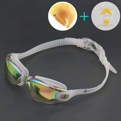Men Women Outdoor Swimming Goggles Fashion Large Frame Plating Anti-Fog Goggles