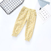 Dot Polka Lace Pockets Bottoming Children's Pants