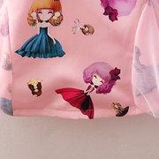Винтаж Девушки в китайском стиле для девочек с принтом Платье Для 2-7 лет