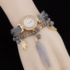 Beaded Feather Owl Armbanduhr