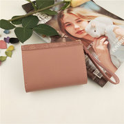 Women Trifold Faux Leather Buckle Multi-slots Fish Wallet Card Holder