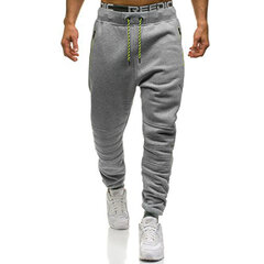 Mens Sport Solid Color Drawstring Slim Fit Training Running Casual Pants