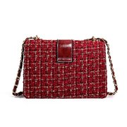 Wool Chain Square Bag Shoulder Bag For Women