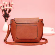 Women Stitching Concise Crossbody Bag Square Messenger Bag