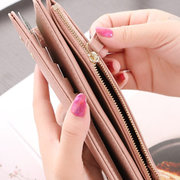 Candy Color PU Leather Multi-slots Long Wallet Purse For Women