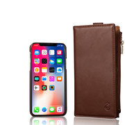 Men And Women Detachable Multifunction Genuine Leather Phone Cases For iphone 3 Card Slot Wallet