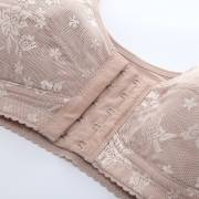 F Cup Front Closure Wireless Mastectomy Full Cup Jacquard Bras