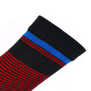 Men Stripe Deodorant Cotton Five Toe Socks Casual Breathable Soft Tube Socks