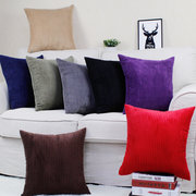 Square Candy Color Corn Cushion Cover Corduroy Pillow Case Cover Office Back Cushion Home Decor