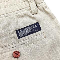 Linho de cor sólida Casual ao ar livre Calças Reto Slim Fit Plus Shorts de tamanho para homens
