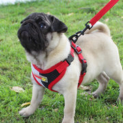 Breathable Double Grid Combination Pet Dog Harness Puppy Double Color Harness