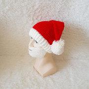 Hombres Mujer de invierno de punto de Santa Claus Beanie sombreros Cráneo cara Mascara sombrero de barba para el regalo de Navidad