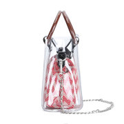 Brenice Summer Transparent Chain Handbags Canvas Chic Jelly Bag Clear Bags