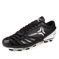 Black Stripe Color Match Studs Shock Absorption Football Shoes