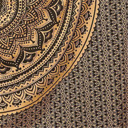 145*145cm Indian Ombre Mandala Gold Tapestry Wall Hanging Blanket Art Throw Bedding Bedspread