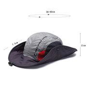 رجل طوي قبعة دلو تنفس مع سلسلة قبعة الصيد في الهواء الطلق تسلق كاب ظلة
