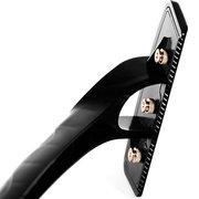Ferramenta de remoção de barbear para trás cabelo preto longo removedor de pêlos cabo dobrável Shaver corpo traseiro