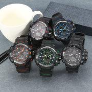 SMAEL Relógio Luminoso Esportivo Multifuncional Eletrônico Militar