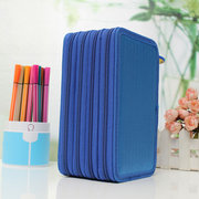 Colors Portable Drawing Sketching Pencils Pen Case Holder Bag for 72pcs Pencils
