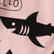 Sharks Print Girls Boys Long Sleeve T-Shirt For 2Y-11Y