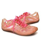 Jelly Hollow Out Lace Up Прозрачная мягкая обувь для пляжа