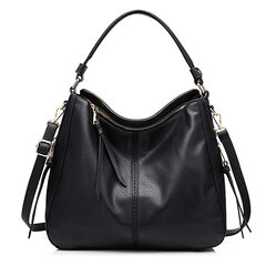 Women Large Capacity Handbag Tote Bag Tassel PU Leather Shoulder Bag