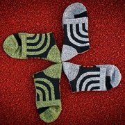 Men's Fall Winter Cotton Fiber Cool Pattern Outdoor Sport Sock