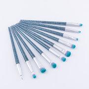 10pcs pincéis de maquiagem dos olhos de cristal quicksand eyeshadow maquiagem escovas ferramenta de maquiagem