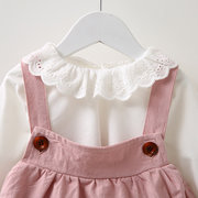 Sweet Top Braces Suits Cotton Kid Baby Girl Clothes Set Dresses For 6-36M