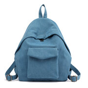 KVKY Canvas Front Pockets Vintage Backpack Students School Book Bags