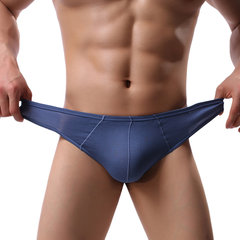 Modal Solid Color Breathable Underwear High Elasticity Brief With Pouch For Men