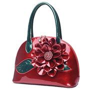 Damen Fashion Elegant High Light Lackleder Wasserdichte Kleine Schultertasche Handtasche