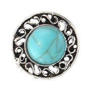 Vintage Stud Earring Ring Jewelry Set Antique Silver Gold Turquoise Ring Pearl Earring for Women