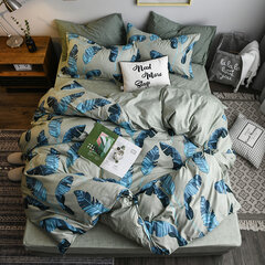 4Pcs INS Minimalist Lattice Bedding Sets Quilted Quilt Duvet Cover Sheet Pillowcases Queen King Size