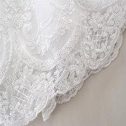 Белая принцесса Baby Girl Bowknot Lace Цветочные рождественские свадебные платья для 6-48M