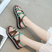 Color Match Clip Toe Breathable Flat Summer Ghillie Sandals