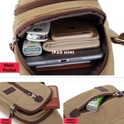 Canvas Multi-function Outdoor Travel Casual Chest Bag Crossbody Bag For Men