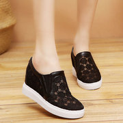 Small White Shoes Female Season New Height Increase Women's Shoes Breathable Mesh Wild Thick Casual Sports Shoes