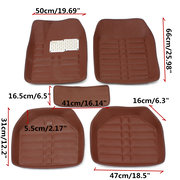 5pc Universal Car Floor Mats Front & Rear Carpet Auto Mat All Weather Waterproof Carpets