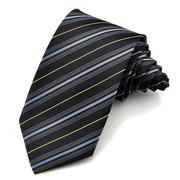 PenSee Gentleman Silk Twill Stripes Krawatten Bräutigam Hochzeit Kleid Zubehör