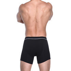 Home High Waist Rib Thicken Crotch Front Opening Compresion Boxers for Men