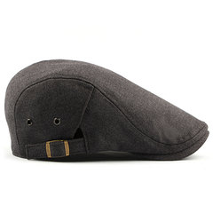 Mens Cotton Solid Color Beret Cap Duck Hat Sunshade Casual Outdoor Peaked Forward Cap Регулируемая шляпа