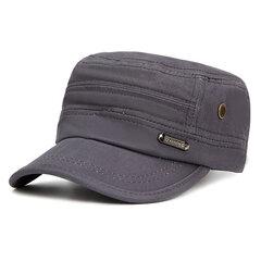 Мужчины Женское Винтаж Хлопковая плоская бейсболка Ourdoot Спортивные регулируемые шапки