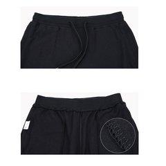 Pantalon de sport pour hommes Cordon élastique à la taille Épissage Couleur unie Vêtement de sport Casual