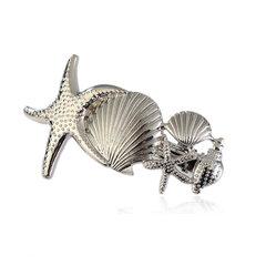 Nette Haarnadel Zubehör Seestern Conch Dekorative Silber Gold Haar Pins Modeschmuck für Frauen