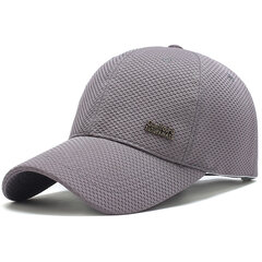 Men's Summer Solid Breathable Adjustable Cotton Mesh Hat Outdoor Sports Baseball Cap