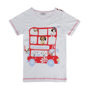 Lovely Bus Baby Children Boy Pure Cotton Short Sleeve T-shirt