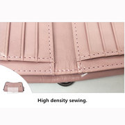 Genuine Leather Double Zipper Short Wallets Two Folded Purse Card Holder Coin Bags