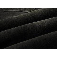 Calça Jeans Modelo de Motociclista Rasgado Dobrável Masculino Zíper