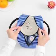 New Arrival Striped Pattern Lunch Bag Insulation Bag Outdoor Picnic Food Container Bag